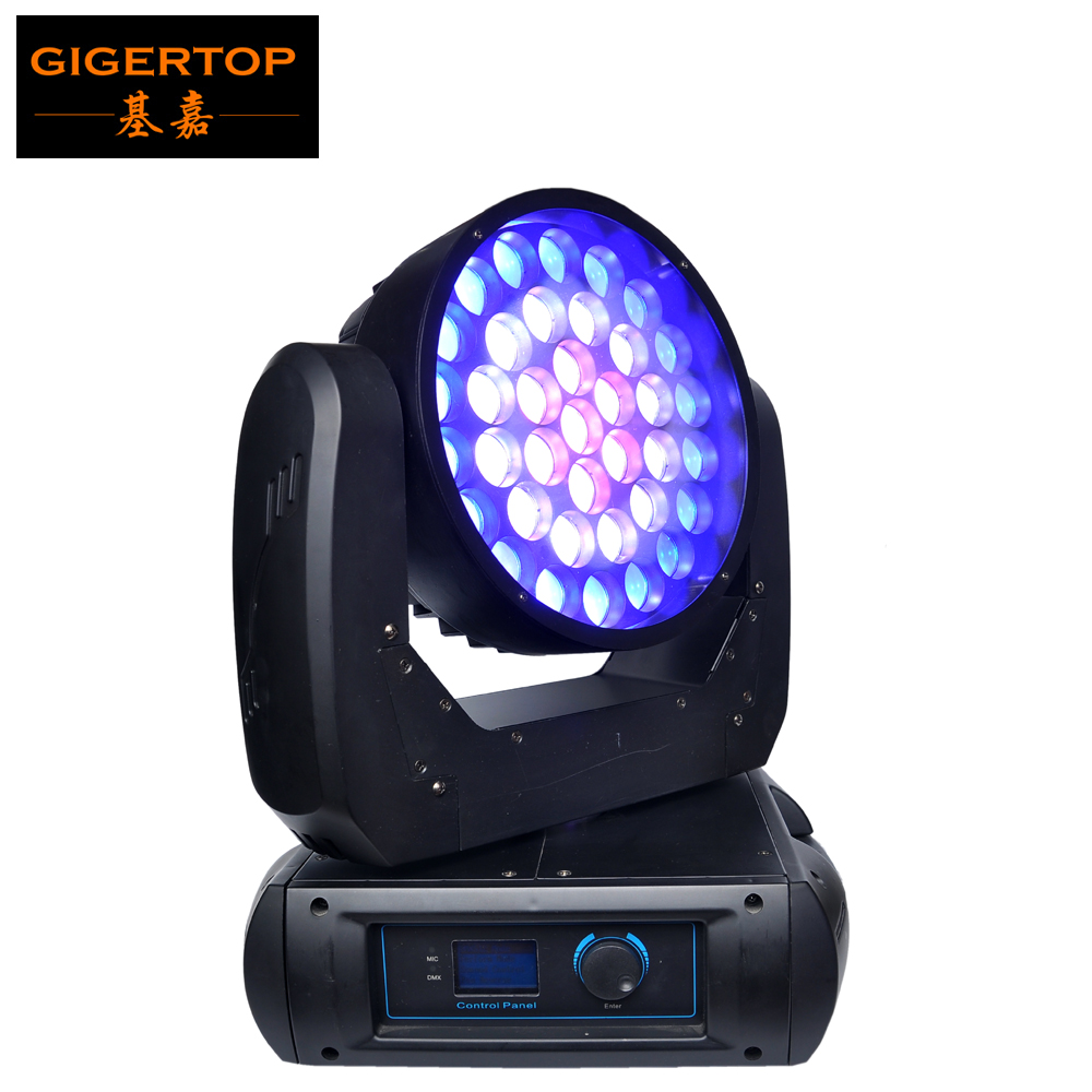 TIPTOP TP-L675 New 37x12W Big Led Moving Head Zoom Light Washer Effect USA Cree RGBW 4IN1 LED Individual Control Smooth Dimmer