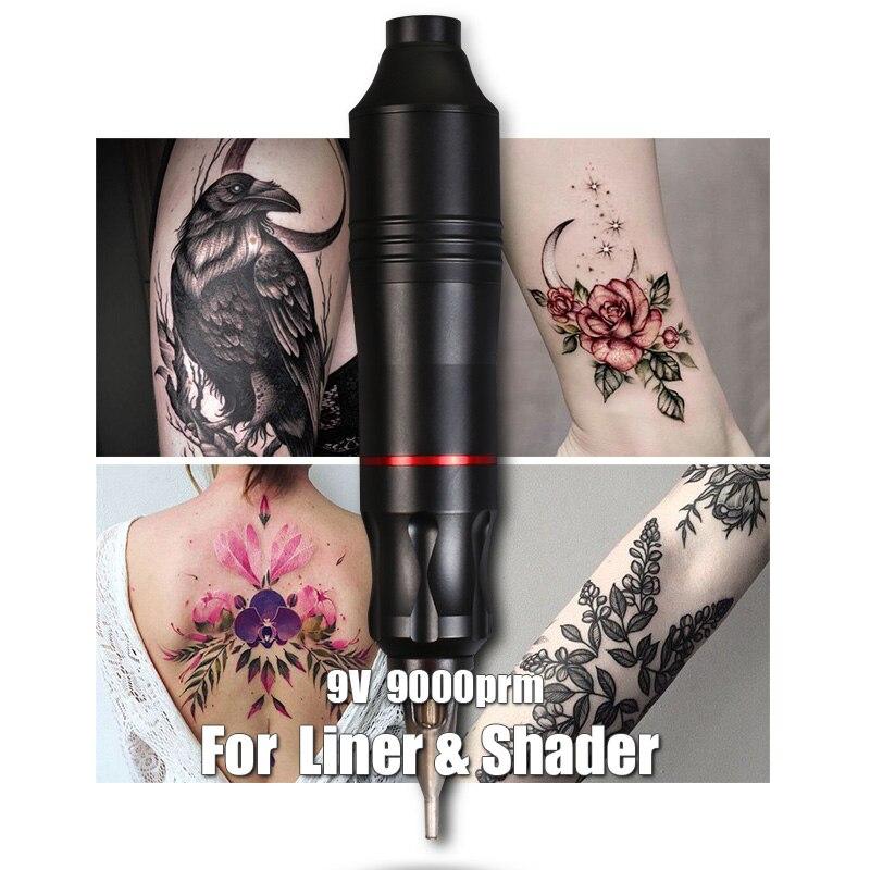 Poderosa tatuagem caneta máquina de tatuagem rotativa