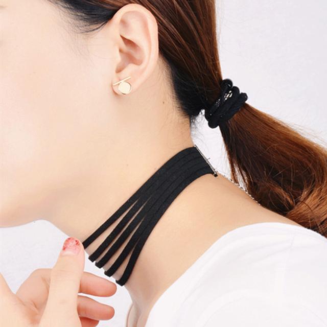 Black Velvet Choker Multi Layer Collar