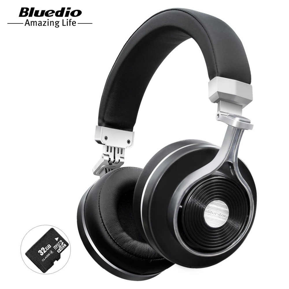 cec5e7b9bba Bluedio T3 Plus wireless Bluetooth headphones with microphone SD card slot  music original bluetooth headset phone
