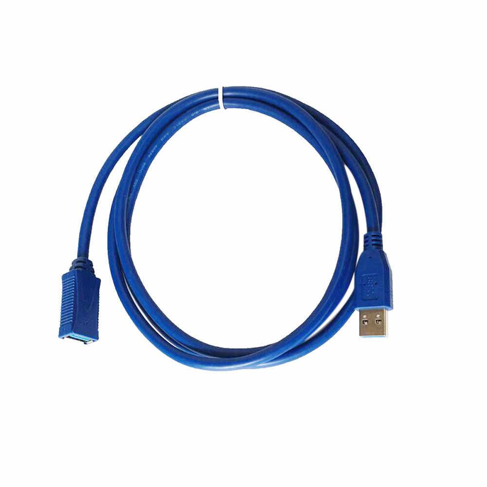 Gratis Pengiriman USB 3.0 Plug Ke Soket Wanita 1.5 M/5ft Super Cepat Ekstensi Kabel Cord untuk pengisian Power Data