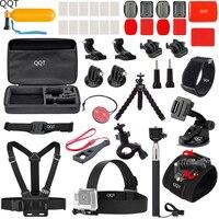 QQT for Gopro accessory set for hero7 6 5 4 3 for xiaomi for yi 4K for SJCAM for sj4000 sj5000 sj6000 sj7000 sports camera