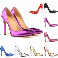 Women Pumps Fashion Sexy Pointed Toe Sweet Colorful Serpentine 11CM Thin High Heels Woman Nude Women's high-heeled single shoes 2017 women butterfly knot high heels pointed toe pumps thin heels flock zapatos mujer stilettos lady shoes heeled 11cm y146