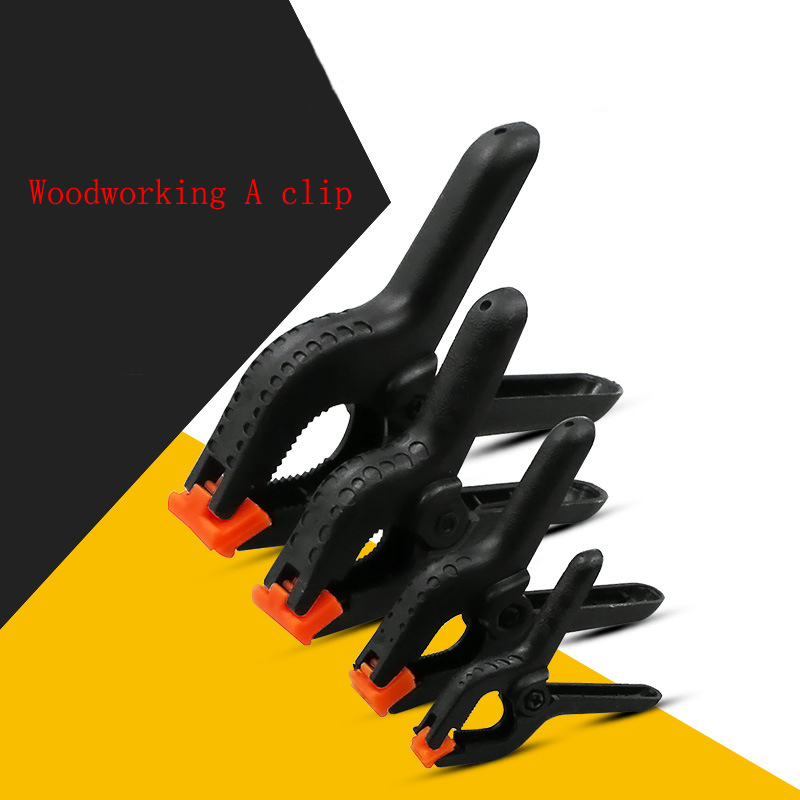 Купить с кэшбэком 5 Pcs Woodworking Clip DIY Carpentry Quick Release Bar Clamp Practical 2/3/4/6 Inch Plastic Woodworking Bar Clamping Device