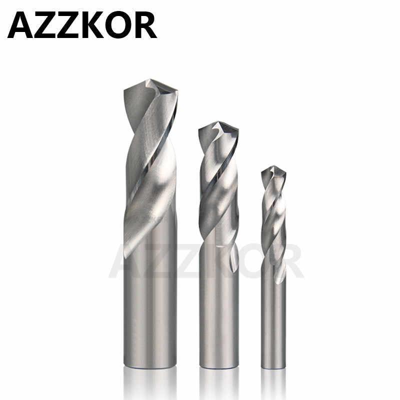 Foret solide en acier inoxydable Super dur HRC50 de foret d'alliage de carbure d'azzkor pour la Machine de tour de CNC