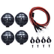 4 Led White Light with Lampshade for 1/10 Traxxas Hsp Rc Crawler Accessory Car Parts