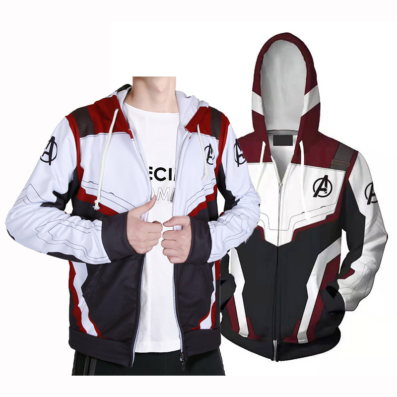 Kids Adult Avengers Endgame Quantum Realm Hooded Hoodies Sweatshirt Jacket  Advanced Tech Embroidery Cosplay Costumes