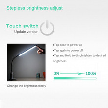 Eye Protect LED Table Lamp Study Desk Lamp Clamp Clip Light office Stepless Dimmable Bendable USB Touch Switch Sensor Control