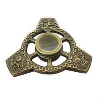 Tri Fidget Spinner Triangle Torqbar Brass Finger Spinner Decompression EDC Focus ADHD Autism Children Adult Hand