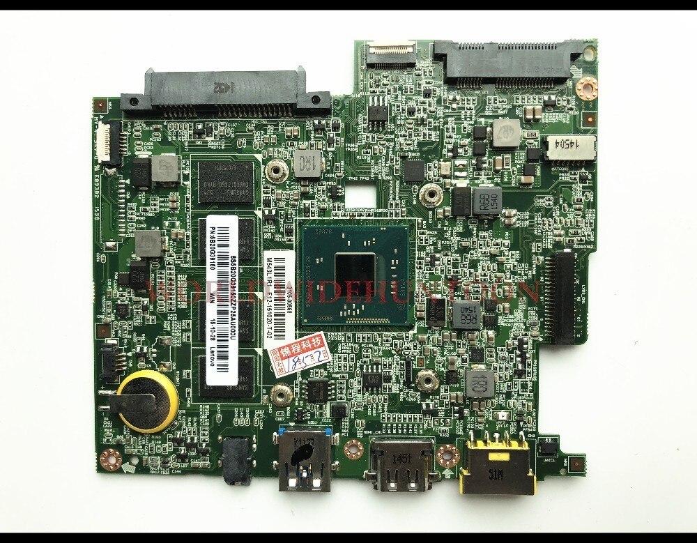 High quality FRU 5B20G39150 for Lenovo Flex 10 Laptop Motherboard BM5338 REV1 7 SR1W4 N2830 CPU