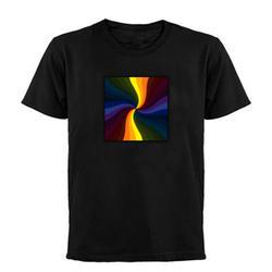 Светящиеся футболки Лето 2017 г. одежда LED Футболки для девочек светящиеся Для мужчин/Для женщин Футболка Индивидуальные 100/шт повседневная
