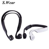Fast shipping Wireless Bone Conduction Headphones Bluetooth 4.0 Headset Earphone Stereo Music Mic Hearing Aids Ear Release For