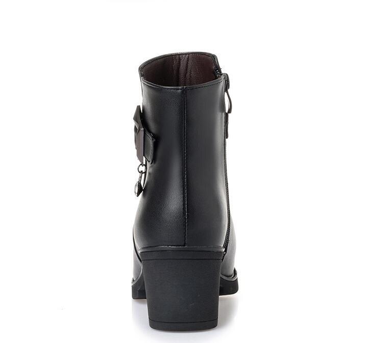 Taille Noir Laine Chaudes Épais Plate Alishinrey 35 Chaud Véritable Nouveau D'hiver 2018 Cuir En Bottes Neige 43 forme Femmes 4AfZq
