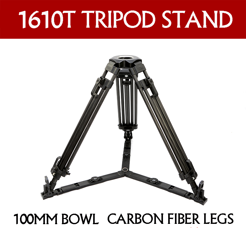 TERIS TX-1610T professional carbon fiber legs video camera tripod stand 100mm Bowl For TILTA Rig Red Scarlet Epic FS700 цены онлайн