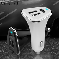 100 Genuine Brand Universal 3 Port Car Charger USB Car Charger 2 1A Plug Adapter For
