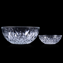 The imported Ocean lead-free glass bowl diamond disc fruit dish dessert snacks cold salad