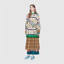 New flower pattern colorful bouquet digital printing manual DIY custom fabric high fashion clothing polyester cloth presale