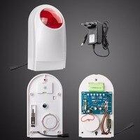 Wireless Outdoor Waterproof Flash Siren Sound Strobe Flash Alarm Siren For Wifi G90B Home Security Alarm