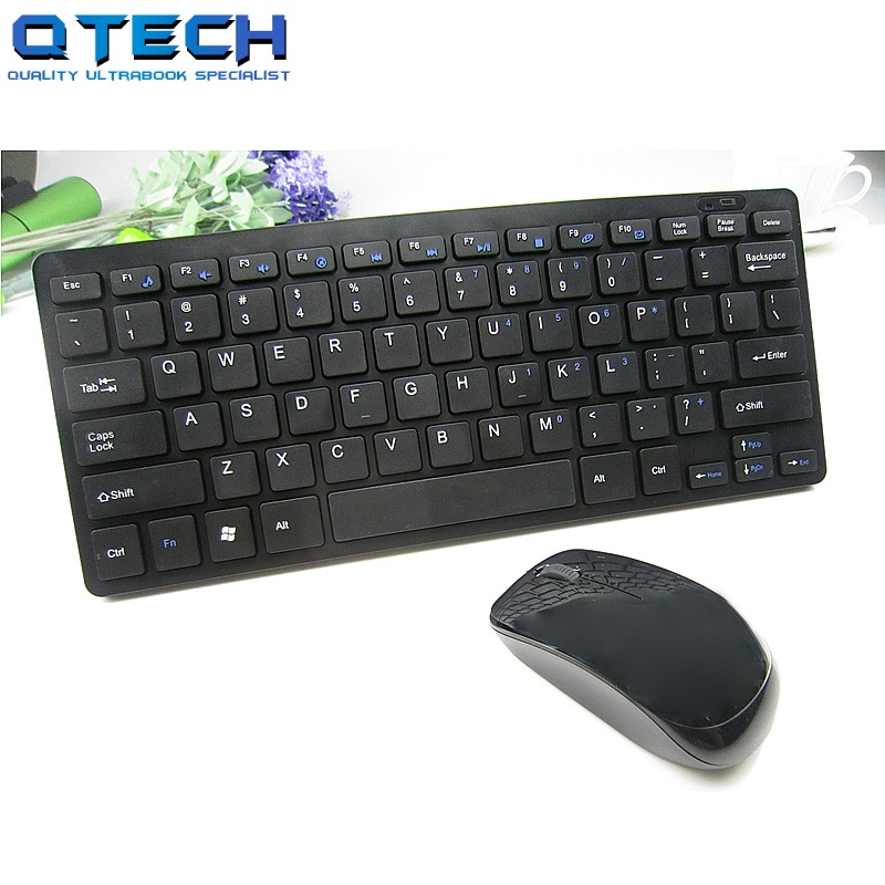 Wireless Keyboard Mouse Combo USB Wifi Compact White Black Office Home Hebrew Polish Portugues Spanish English