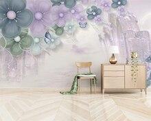 beibehang Customized modern minimalist three-dimensional flower butterfly moonlight TV background papel de parede 3d wallpaper