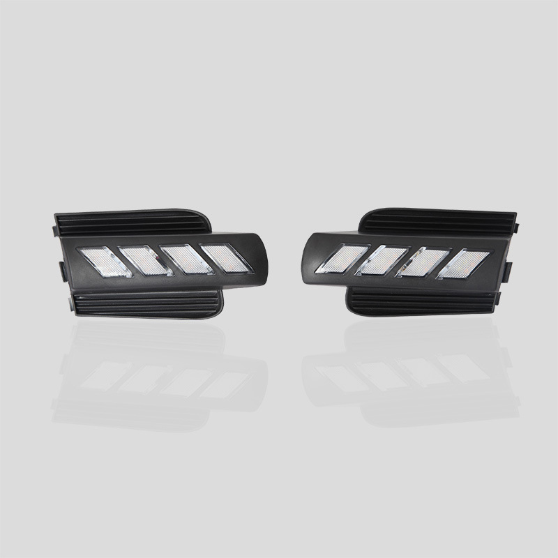 Car Flashing led drl daytime running light For 03 09 year Toyota Prado fog lamp hole cover function Signal light 2pcs in Signal Lamp from Automobiles Motorcycles