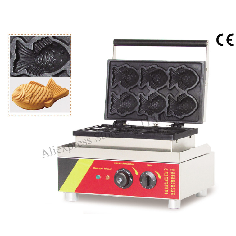 Non-stick Electric fish cake grill machine Waffle Cookie Machine taiyaki maker machine digital taiwan taiyaki machine taiyaki waffle making machine