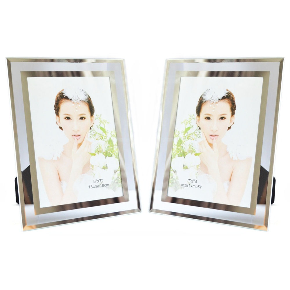 giftgarden glass photo frame set 5x7 picture frames home office table ornaments set of 2 in. Black Bedroom Furniture Sets. Home Design Ideas