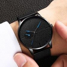 Luxury Ultra-thin Wristwatches Mens Watches Top Brand Fashion Mesh Steel Waterproof Clock Male relogio masculino erkek kol saati цена