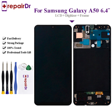 Amoled For Samsung Galaxy A50 Lcd A505DS A505F A505FD A505A Display Touch Screen Digitizer Assembly For Samsung A50 Lcd   Frame