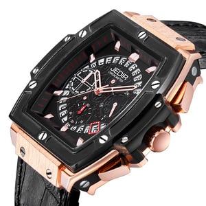 Image 2 - Relogio Masculino męskie zegarki Top luksusowa marka biznes zegarek hublot JEDIR Casual wodoodporny męski zegarek chronograf zegar