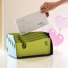 DIY пластиковый Настольный держатель для букв, учетная стойка для инструментов, держатель для документов, офисные принадлежности
