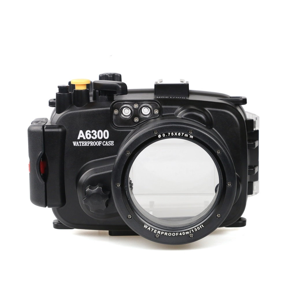 for Sony A6300 with Accurate Alarm Buzzer Equipment Meikon 40m 130ft Underwater Waterproof Housing Diving Case