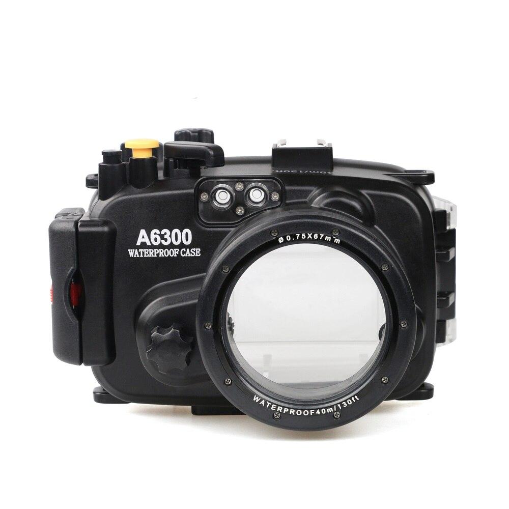 Pour Sony A6300 avec Précis D'alarme Buzzer Équipement Meikon 40 m/130ft Boîtier Étanche Sous-Marin Cas de Plongée