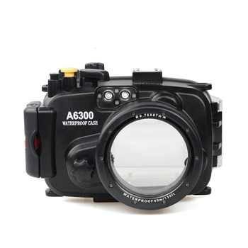 for Sony A6300 with Accurate Alarm Buzzer Equipment Meikon 40m/130ft Underwater Waterproof Housing Diving Case - DISCOUNT ITEM  25% OFF All Category