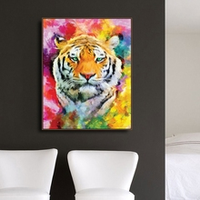 Watercolor Tiger Animals Print Canvas Home Decor Wall Art Oil Painting Pictures Postesrs for Living Room Bedroom Decoration