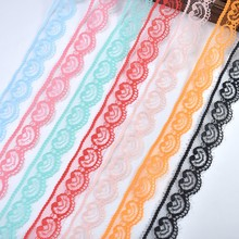 10 yards/Lot lace ribbon 22mm wide white fabric wedding jewelry and other DIY home trimmings for sewing accessories