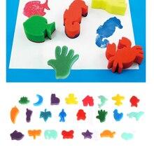 24 шт губки набор детей Дети Искусство ремесло живопись DIY игрушка домашняя обучающая игрушка