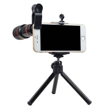 Wholesale prices Apexel camera Lens in mobile for iPhone6 6S 7 7s Samsung S7S6 galaxy android Smartphones Clip Telescope Camera Lens with Tripod