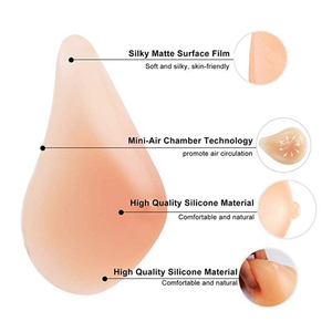 Image 3 - Silicone Breast Form Supports Artificial Spiral Silicone Chest Fake False Breast Prosthesis 150g 500g Super Soft Sponge Pad D30