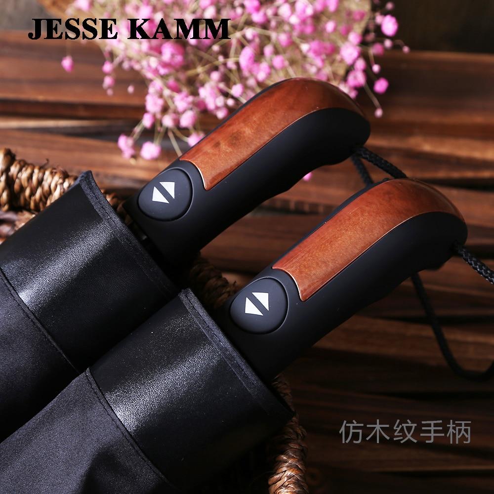 Fashion black fully automatic commercial umbrella plus size 10 windproof umbrella folding sun umbrella dual