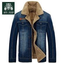 M~4XL New Retro Warm Denim Jackets Mens Jeans Coats Winter Jackets Brand AFS JEEP Thicken Denim Coat Men Outwear Male Asian Size(China (Mainland))