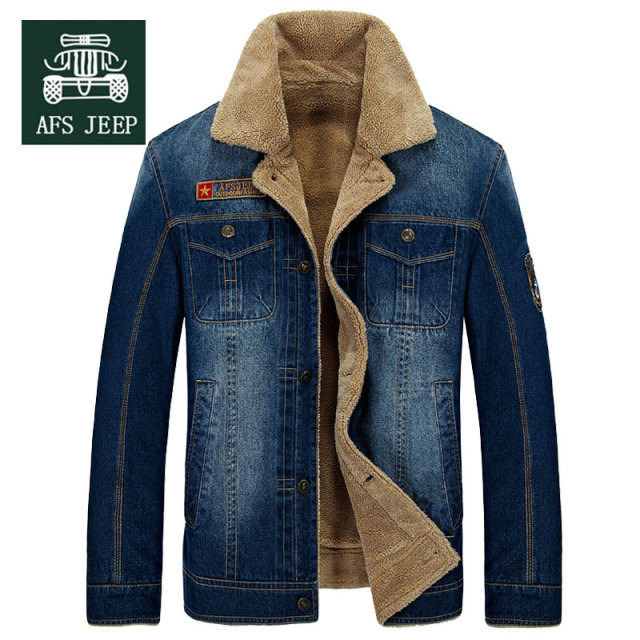 Aliexpress.com : Buy M~4XL New Retro Warm Denim Jackets Mens Jeans ...