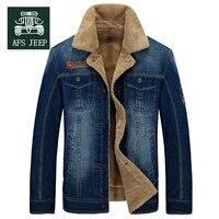 M~4XL New Retro Warm Denim Jackets Mens Jeans Coats Winter Jackets Brand AFS JEEP Thicken Denim Coat Men Outwear Male Asian Size
