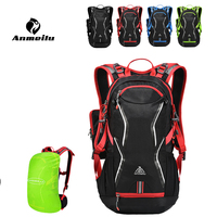 ANMEILU 4 Colors Climbing Backpack Bag Sports Riding Hiking Outdoor Bags Hydration Water Bag Backpack+Rain Cover Set