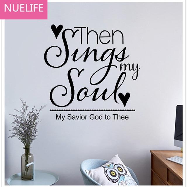 Elegant Englisch Singen Mein Song Text Wandaufkleber Schlafzimmer Arbeitszimmer Kinderzimmer  Dekoration Aufkleber