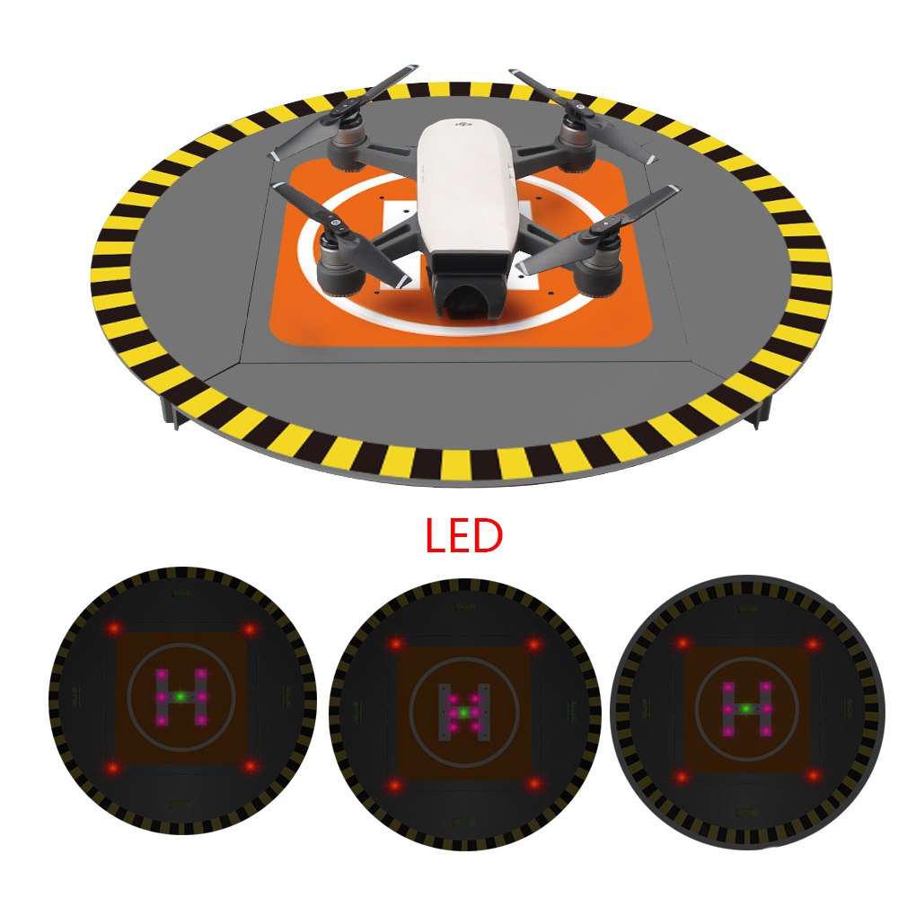LED lectronic Landing Pad Parking Apron for DJI Mavic Pro Platinum/Spark/Phantom 4 Pro/4/3 inspire 1/2 Night flight Accessories for dji mavic pro platinum portable foldable landing pad 55cm for dji mavic air pro phantom 4 pro drone accessories fpv racing