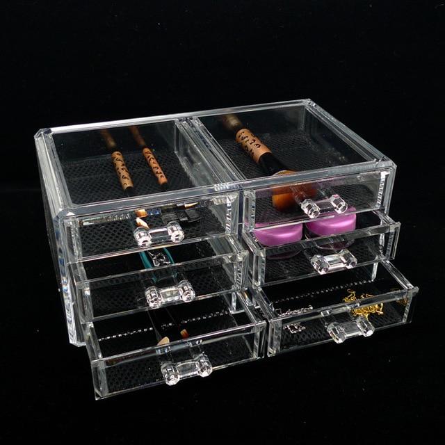 organizer box for jewelry storage box in acrylic makeup organizer cofre ikea  caixa organizadora 6 boxes. Makyaj Organizeri Ikea   JulietteTemple com