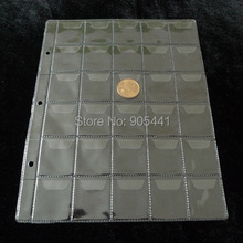 38*34mm 10 Pcs Album Pages 30 Pockets Money Coin Note Currency Holder For Coin And Money Collection Free Shipping Wholesale
