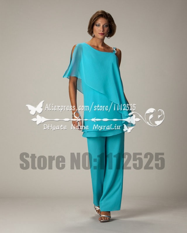 76a50fd022eb4 AMP1038 2015 Summer Plus size chiffon mother of the bride pant suits for  the beach wedding ...