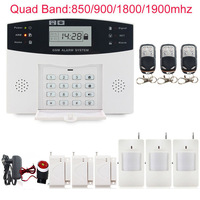 GSM PSTN SMS Kit Burglar Alarm System Security LCD Keyboard Wireless Gsm Alarm System LCD Auto